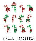 クリスマスキャンディーのベクターイラストアイコンセット 57213514