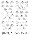 可愛いネコのイラスト 57215310