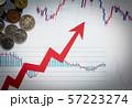 矢印 為替 資産運用 投資 上昇 上向き ローソク足 57223274
