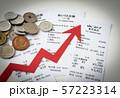 矢印 レシート 買い物 消費税 物価 上昇 57223314