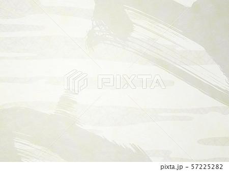 和風背景素材-筆タッチ-躍動感-生成り-白色 57225282