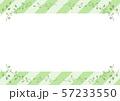 葉 フレーム ストライプ背景 57233550