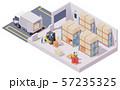 Vector isometric warehouse interior 57235325