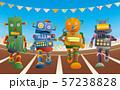 運動会で短距離走をするロボット達 57238828