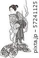 浮世絵 幽霊 その1 白黒 57241125