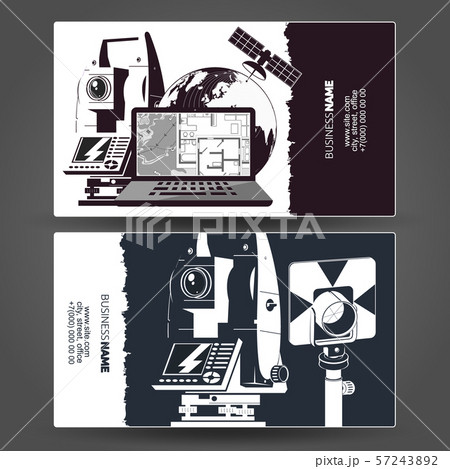 Surveying and cartography business card 57243892