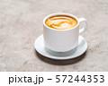 cup of espresso Coffee on conrete background 57244353