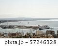 丘の上から見下ろすマヨルカの港と街並み 57246328