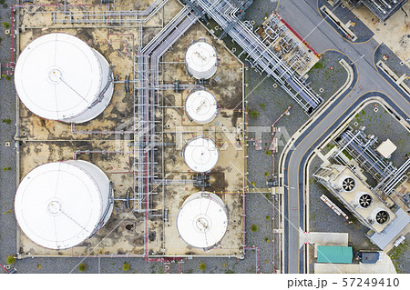 Aerial view of Oil refinery plant 57249410