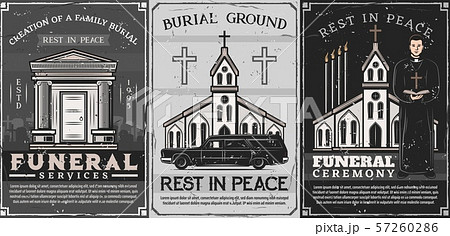 Burial service. Crypt on cemetery, church, priest 57260286