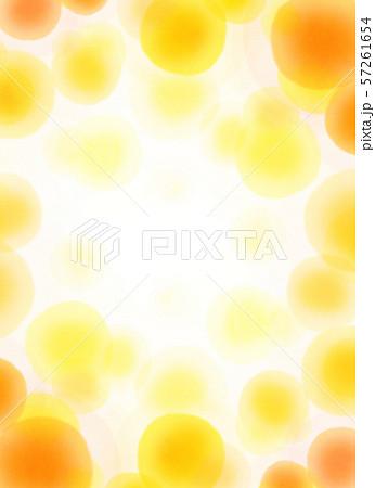 丸模様 オレンジ テクスチャー 57261654