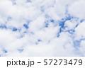 青空と雲の背景素材 暑中見舞い テンプレート 57273479