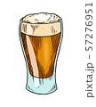 Beer glass, mug or bottle for oktoberfest. Engraved in ink hand drawn in old sketch and vintage 57276951