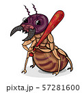 Character design of funny termite hold a red club 57281600