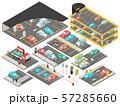 Multilevel Parking Isometric Set 57285660