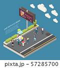 Ice Cream Cart Isometric Poster 57285700
