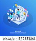 Chatting People Isometric Background 57285808