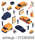 Isometric Taxi Icon Set 57285838