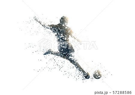 football abstract silhouette 3 bitmap ver. 57288586