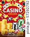 Online casino and betting chips, gambling game 57292792