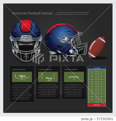 American football helmet with team plan vector illustration 57292891