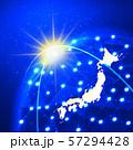 日本地図 ビジネス ビジネス成長  日本経済 地図 ビッグデータ 57294428