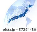 日本地図 ビジネス ビジネス成長  日本経済 地図 ビッグデータ 57294430