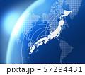 日本地図 ビジネス ビジネス成長  日本経済 地図 ビッグデータ 57294431