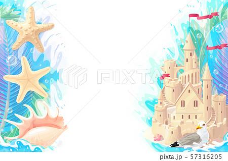vector cartoon Sea border background 57316205