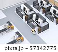 協働型双腕ロボット、AGV無人搬送車、マシニングセンタ、自動運転フォークリフトがあるスマート工場 57342775