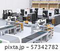 協働型双腕ロボット、AGV無人搬送車、マシニングセンタ、自動運転フォークリフトがあるスマート工場 57342782