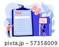 Tax form concept vector illustration. 57358009