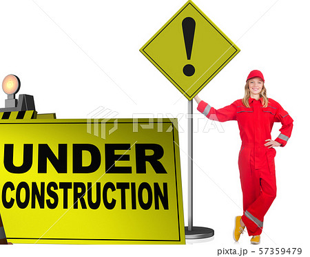 Concept of under construction for your webpage 57359479