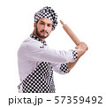 Male cook isolated on the white background 57359492