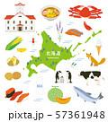 北海道 名産品 観光 イラストセット 57361948