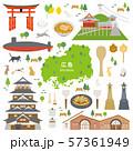 広島県 名産品 観光 イラストセット 57361949