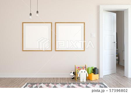 Children room scandinavian style 3D rendering 57396802