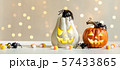 Halloween pumpkins with spider 57433865