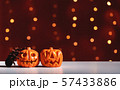 Halloween pumpkins with spider 57433886