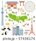 東京都 名産品 観光 イラストセット 57436174