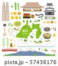 静岡県 名産品 観光 イラストセット 57436176