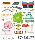 大阪府 名産品 観光 イラストセット 57436177