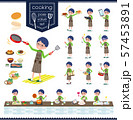 flat type Green clothing glasses boy_cooking 57453891