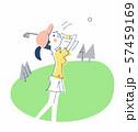 ゴルフをする女性 57459169