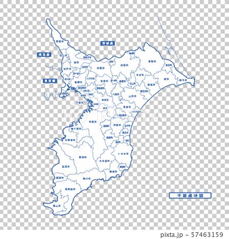 千葉地圖簡單的白色地圖城市 57463159