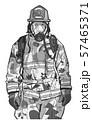 Firefighter illustration poster print shirt design 57465371