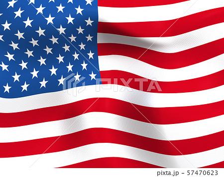 CG 3D イラスト 立体 デザイン バックグラウンド 世界 国旗 アメリカ USA 星条旗 57470623