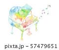 七色ピアノと音符 57479651