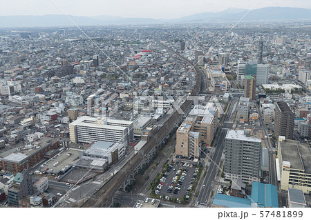 岐阜駅前、空から眺める岐阜市 57481899