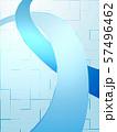 ウェーブ エコ 波形 曲線模様 抽象模様 アブストラクト  57496462